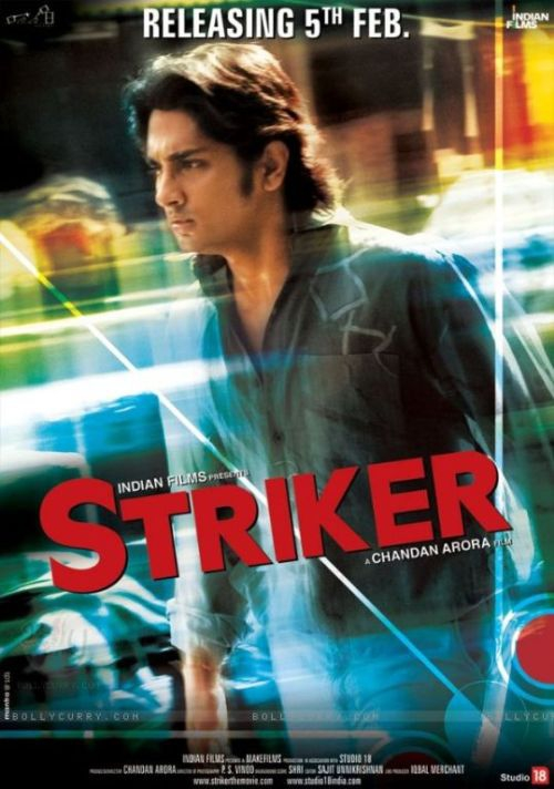 Striker movie poster with Siddharth Narayan