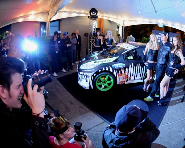Gymkhana 04/20/10 San Francisco: Unveiling of Ken Block's Gymkhana Three Ford Fiesta.