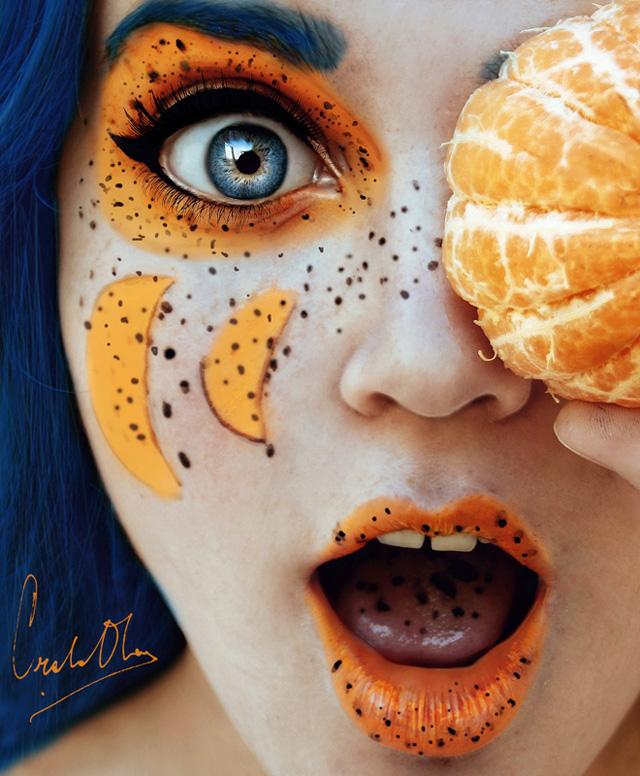 16 ročné dievča ohúrilo ovocnými autoportrétmi