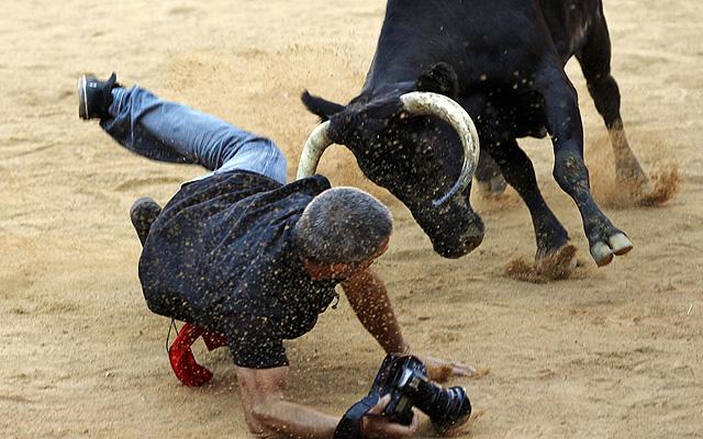 Fotografovanie v býčej aréne, Španielsko