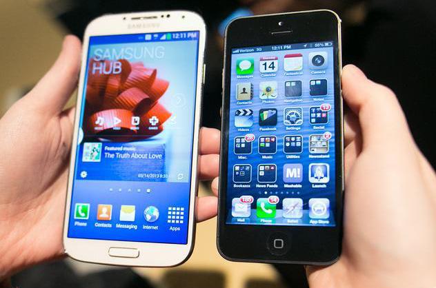Samsung Galaxy S4 v porovnaní s iPhone
