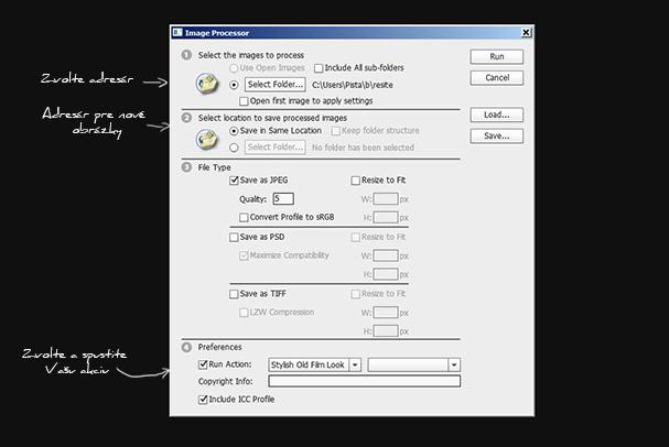 Image processor vysvetlivky