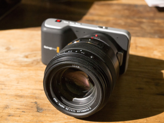 Blackmagic Pocket Cinema Camera with lens