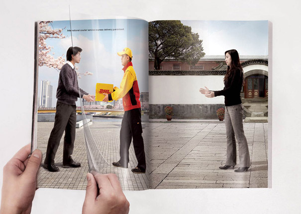 creative magazine advertisment - DHL 2