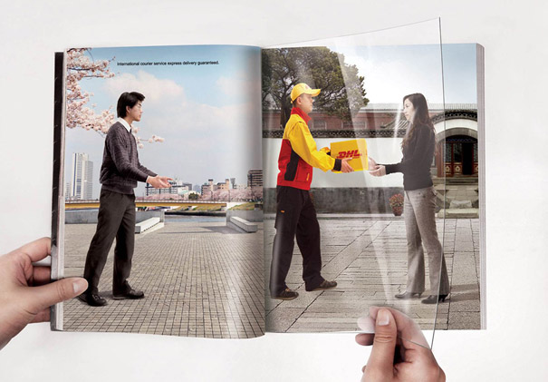 creative magazine advertisment - DHL