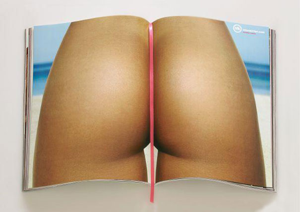 creative magazine advertisment - bikini
