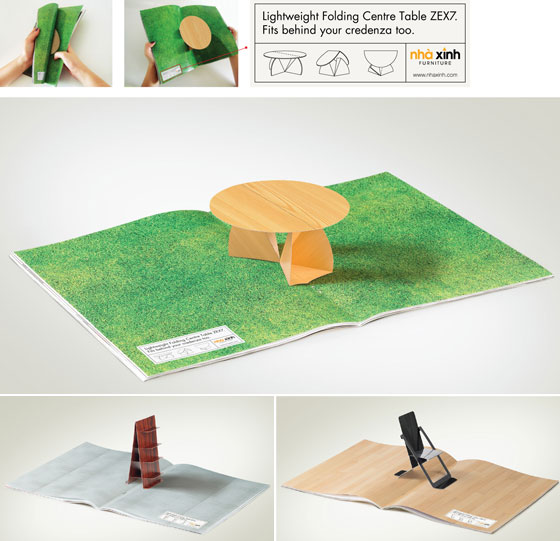 creative magazine advertisment - furniture