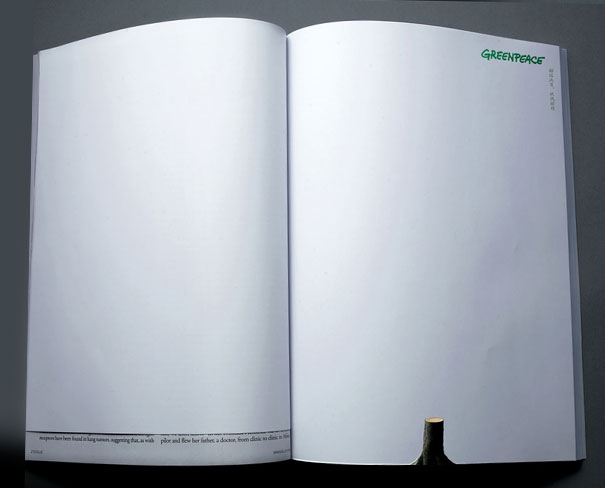 creative magazine advertisment - greenpeace 2