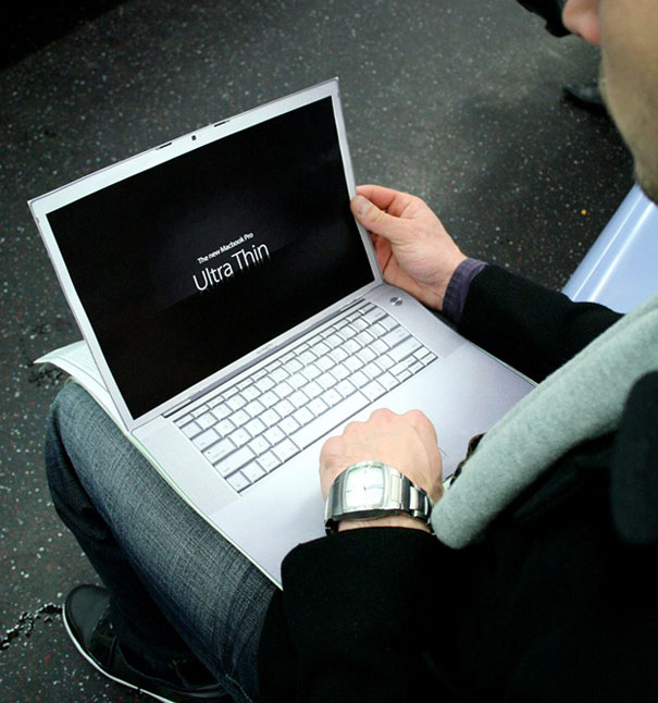 creative magazine advertisment - macbook