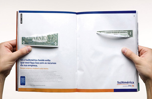 creative magazine advertisment - money 2