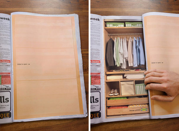 creative magazine advertisment - sliding doors
