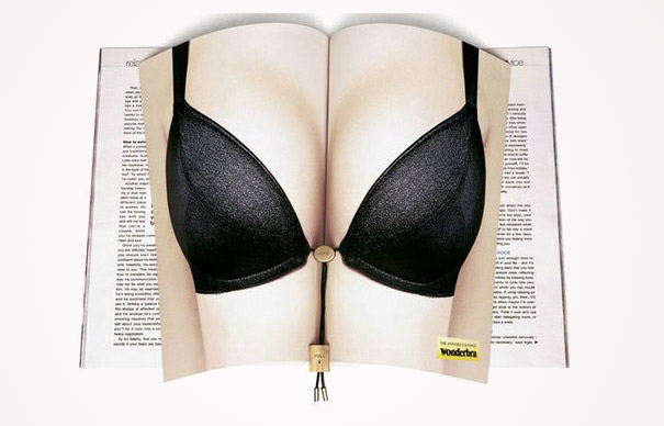 creative magazine advertisment - wonderbra 2