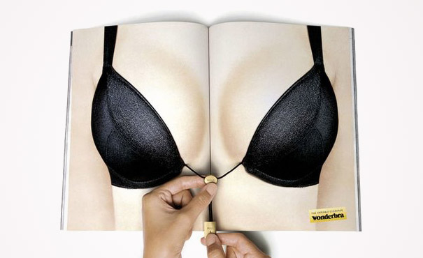 creative magazine advertisment - wonderbra