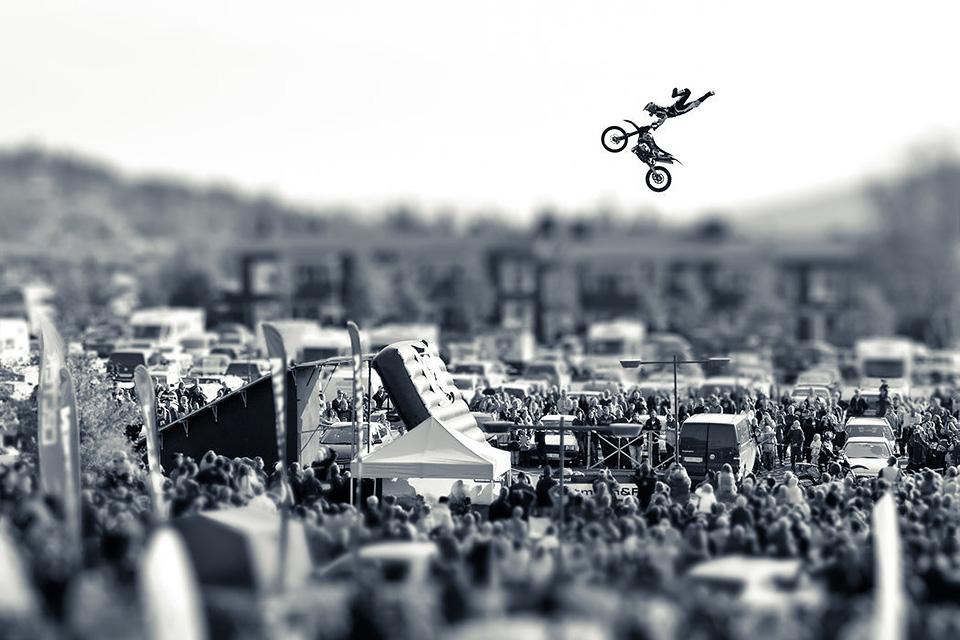 motocross jump tiltshift