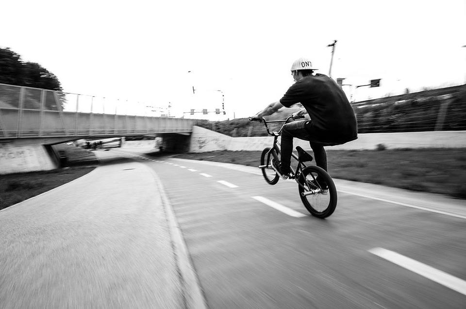 bmx stunt wheelie