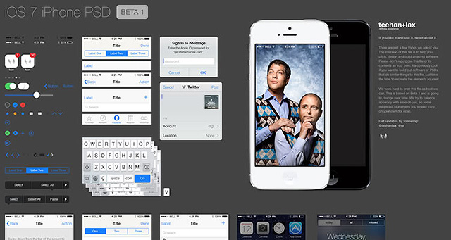 Graphic user interface iOS7