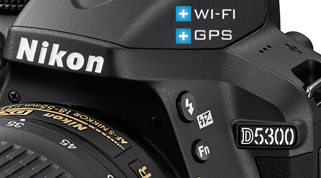 Nikon D5300 with GPS and WIFI