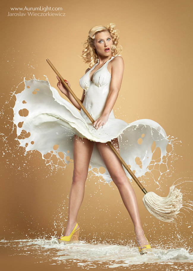 pin-up photography milk 03