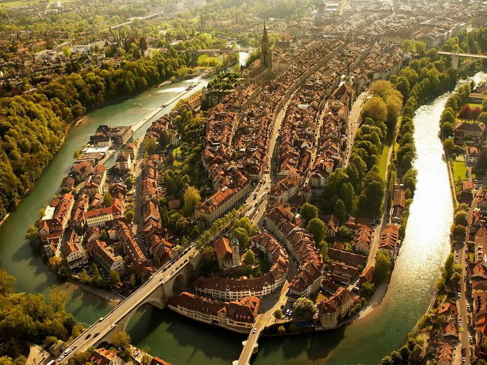 mesto z vtacej perspektivy 08 - Bern Švajčiarsko