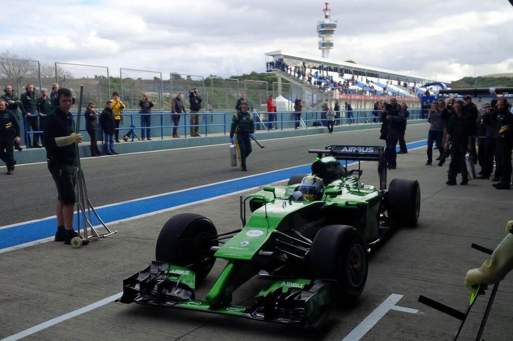 nové monoposty F1 2014 caterhem