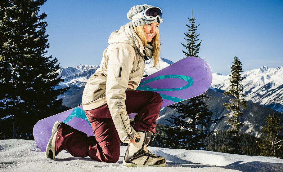 snowboarding girl photography