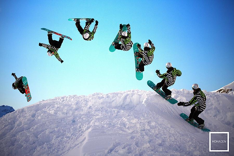winter games snowboarding jump