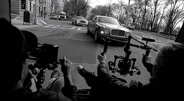 Bentley advertisement recording by iPhone 07