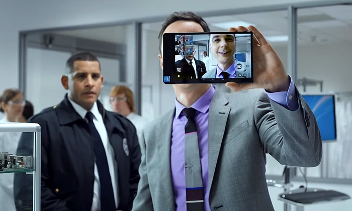Sheldon Cooper in Intel ads