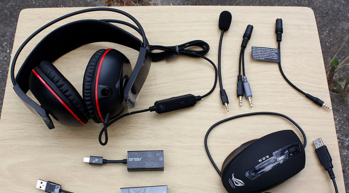 Asus G501 ROG headset and mouse