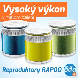 Rapoo - bezdrôtové klávesnice, myši, reproduktory a slúchadlá.