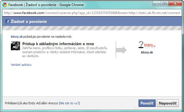 Prihlásení sa cez facebook, môžete naplno využívať stránku